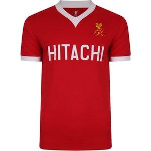 Score Draw Liverpool Fc 1978 Hitachi Retro Football Shirt Mens Sportswear