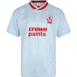 Score Draw Liverpool Fc 1987 Away Retro Football Shirt Mens Sportswear