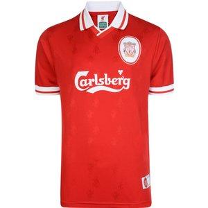 Score Draw Liverpool Fc 1996 Retro Football Shirt Mens Sportswear