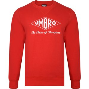 Umbro Choice Of Champions Red Sweatshirt Mens Sportswear