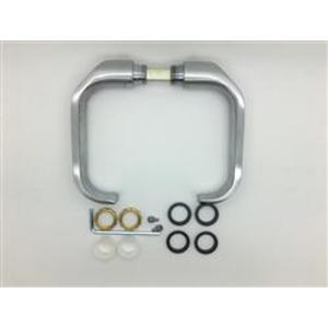 Trioving 7363 Door Handles - 7363 Satin Steel
