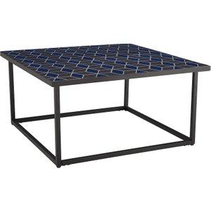 Habitat Adina Black And Blue Square Coffee Table, Black And Blue