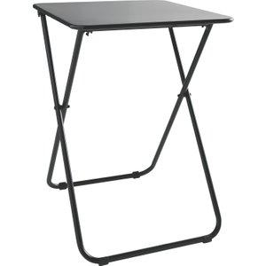 Habitat Airo Black Metal 2 Seat Folding Dining Table, Black, Black