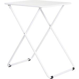 Habitat Airo White Metal 2 Seat Folding Dining Table, White, White