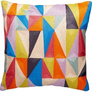 Habitat Ako Multi-coloured Embroidered Cushion 35 X 35cm, Multi-coloured, Multi-Coloured