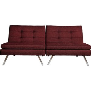 Habitat Argos Home Duo 2 Seater Clic Clac Sofa Bed - Red, Red, Red
