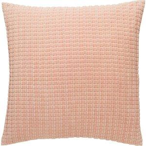 Habitat Bailey Pink Ribbed Velvet Cushion 60 X 60cm, Pink, Pink
