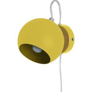 Habitat Ball Yellow Metal Wall Light, Yellow, Yellow