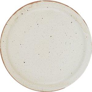Habitat Barnaby Off White Speckled Dinner Plate D27cm, White, White