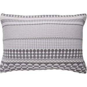 Habitat Bloomsbury Grey Jacquard Rectangular Pair Of Pillowcases, Grey, Grey