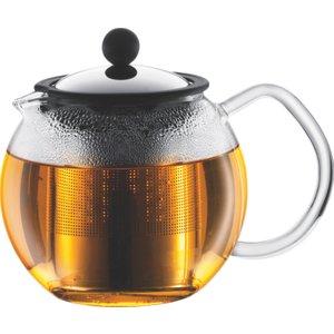 Habitat Bodum Glass Assam Teapot 0.5l, Clear, Clear