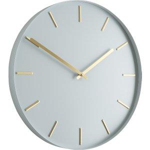 Habitat Bourke Pale Grey Metal Wall Clock, Grey, Grey
