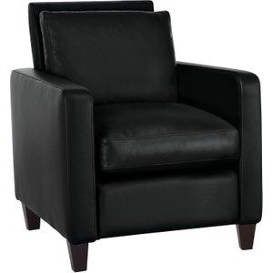 Habitat Chester Black Arredo Leather Armchair, Dark Feet, Black, Black