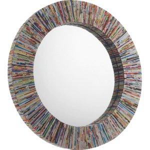 Habitat Cohen Multi-coloured Recycled Magazine Round Wall Mirror, Multi-coloured, Multi-Coloured