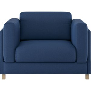 Habitat Colombo Blue Fabric Armchair, Blue, Blue