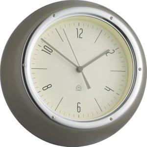 Habitat Delia Grey Metal Wall Clock, Grey, Grey