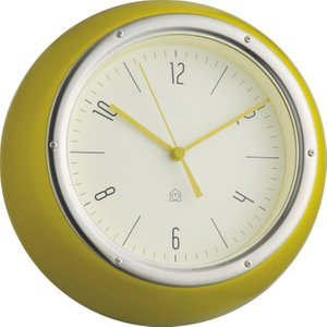 Habitat Delia Yellow Metal Wall Clock, Saffron Yellow, Saffron Yellow