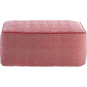 Habitat Durrie Red/white Patterned Floor Cushion, Red, Red