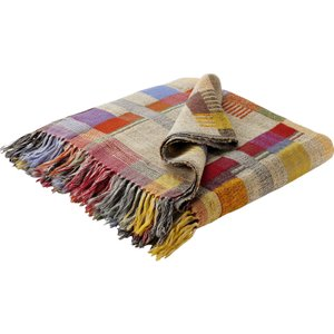 Habitat Edric Multi-coloured Wool And Silk Throw, Multi-coloured, Multi-Coloured