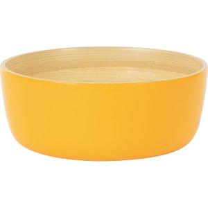 Habitat Emiko Yellow Bamboo Serving Bowl D16.5cm, Yellow, Yellow