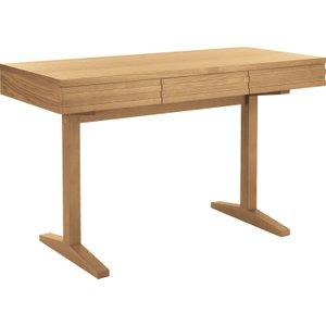 Habitat Enzo 3 Drawer Oak Desk With Pedestal Legs, Oak