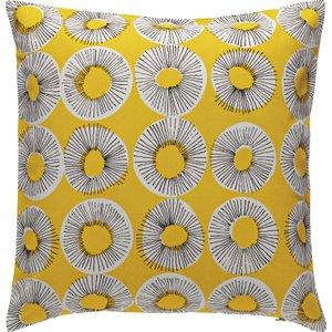 Habitat Evelyn Yellow Patterned Cushion 45 X 45cm, Yellow, Yellow