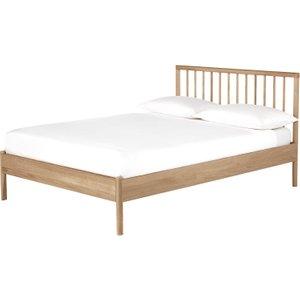 Habitat Franklin Solid Oak Double Bed Frame 135cm, Oak, Oak