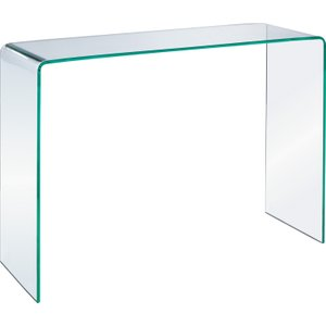 Habitat Gala Tempered Glass Console Table, Clear Glass, Clear Glass