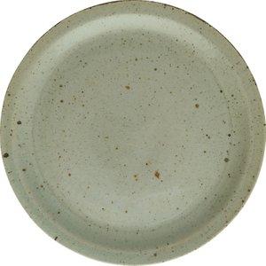 Habitat Guzel Celadon Stoneware Dinner Plate D27cm, Green, Green