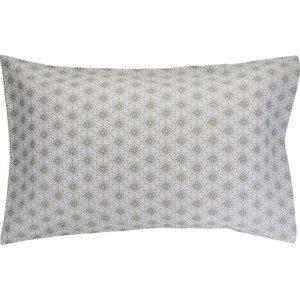Habitat And  Reversible Rectangular Pair Of Pillowcases Grey Ditsy Green, Grey