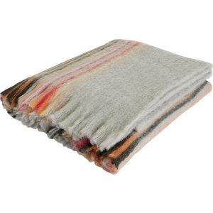 Habitat Aloisa Grey And Multi-coloured Striped Wool-blend Throw 130 X 170cm, Grey, Grey