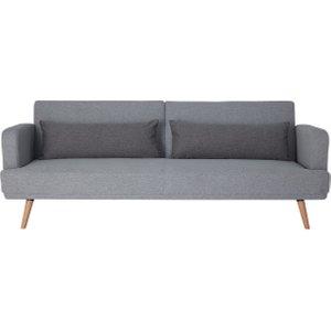 Habitat Andy 3 Seater Fabric Clic Clac Sofa Bed - Grey, Grey, Grey