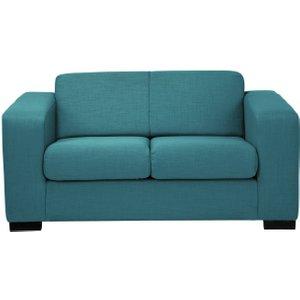 Habitat Ava Compact 2 Seater Fabric Sofa - Teal, Teal, Teal