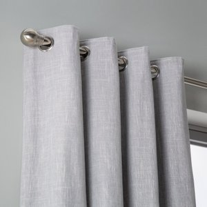 Habitat Blackout Fully Lined Eyelet Curtains - Dove Grey, Dove Grey, Dove Grey
