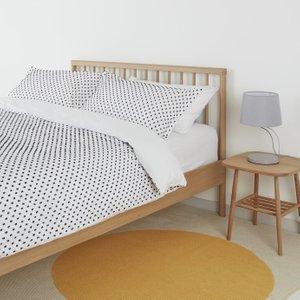 Habitat Camila White & Black Spot Cotton Bedding Set- Double, Black And White, Black And White