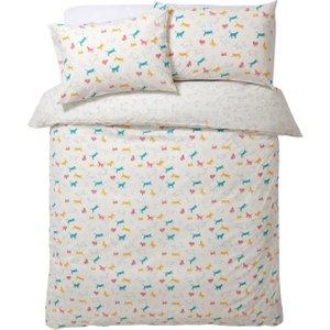 Habitat Cats Print Reversible Bedding Set - Kingsize, Multicoloured, Multicoloured