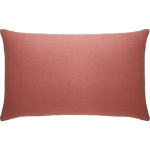 Habitat Dark  Rectangular Pair Of Pillowcases Dark Pink Linen Dark Pink, Dark Pink