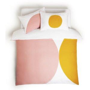 Habitat Esme Pink On White Bedding Set - Kingsize, Pink On White, Pink On White
