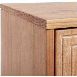 Habitat Grooved Storage 4 Door Sideboard - Oak