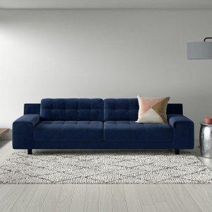Habitat Hendricks 4 Seater Fabric Sofa - Orange