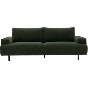 Habitat Julien 3 Seater Fabric Sofa - Dark Green, Green, Green