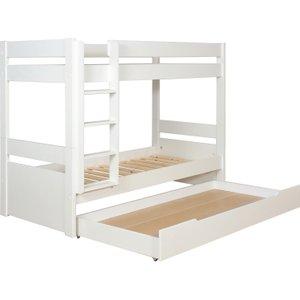 Habitat Pongo Kids' White Eu Single Detachable Bunk Bed With Storage, White, White