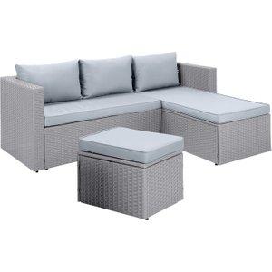 Habitat Mini Corner Sofa Set With Storage - Grey, Grey, Grey