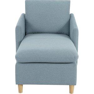 Habitat Mod Fabric Chaise Sofa With Arms - Blue, Blue, Blue