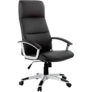 Habitat Orion Faux Leather Ergonomic Office Chair - Black