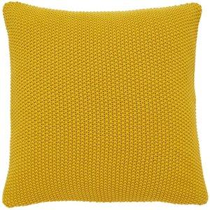 Habitat Paloma 45 X 45cm Knitted Cotton Cushion - Saffron, Saffron, Saffron