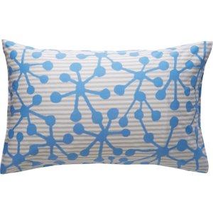 Habitat Printed Rectangular Pair Of Pillowcases Grey Claudia, Grey
