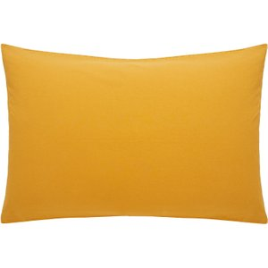 Habitat Rectangular Pair Of Pillowcases Stonewashed Yellow Washed Mustard, Stonewashed Yellow