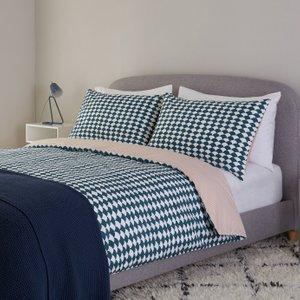 Habitat Scallop Reversible Bedding Set - Double, Multicoloured, Multicoloured
