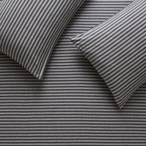 Habitat Jersey Grey Stripe Single Duvet Cover Set, Grey, Grey